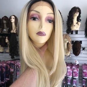 Wig Lacefront ombré blonde human hair Blende Long